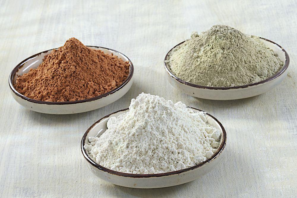 Argile rouge, verte et blanche