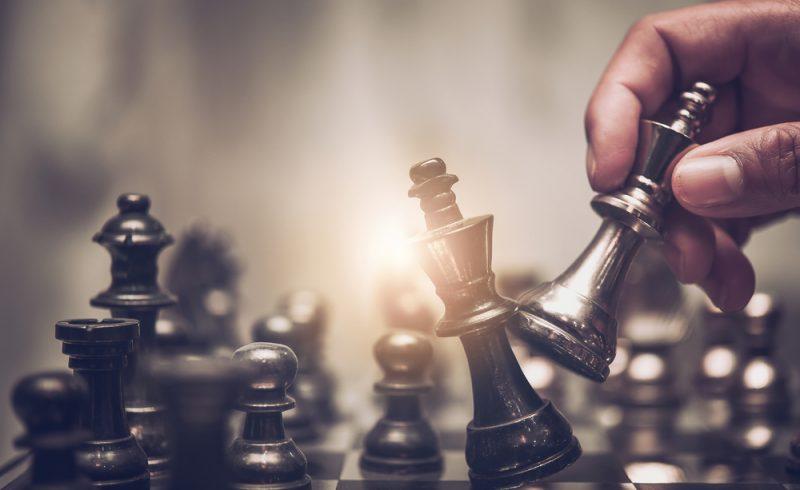 gagner une bataille représenté par un jeu d'échec