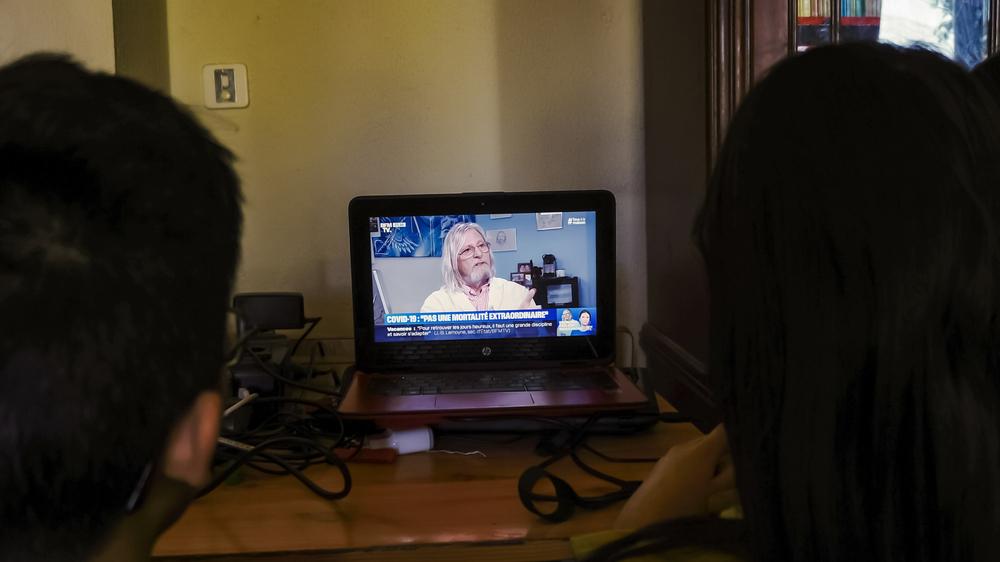 passage de Raoult à la télévision
