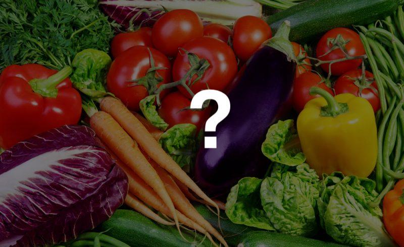 """légumes frais accompagné d'un """"?"""" suggérant lequel de ces légumes"""